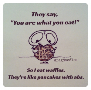 This is why I love waffles!
