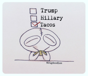 Everyone will vote for Tacos on Tuesday