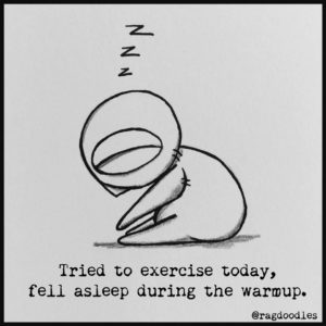Sleeping while exercising